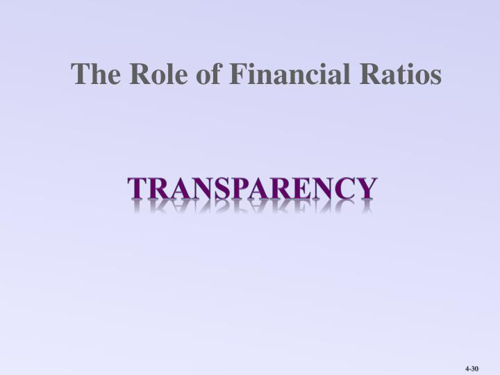 The Role of Financial Ratios