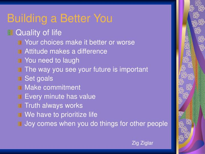 Building a Better You