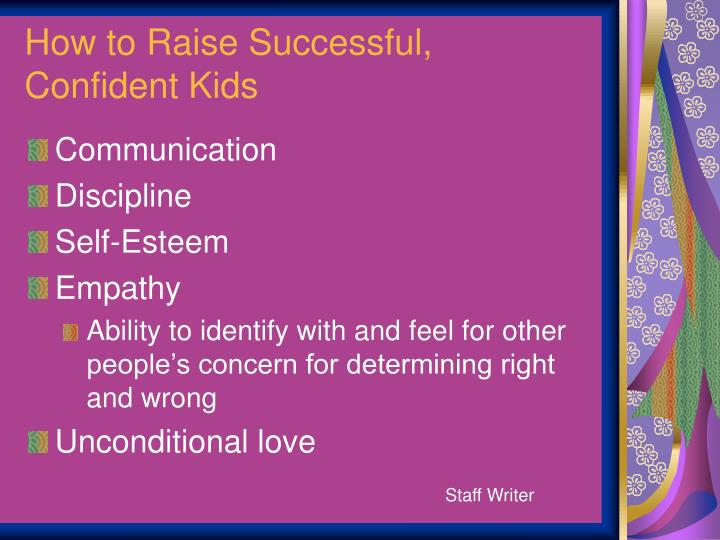 How to Raise Successful,