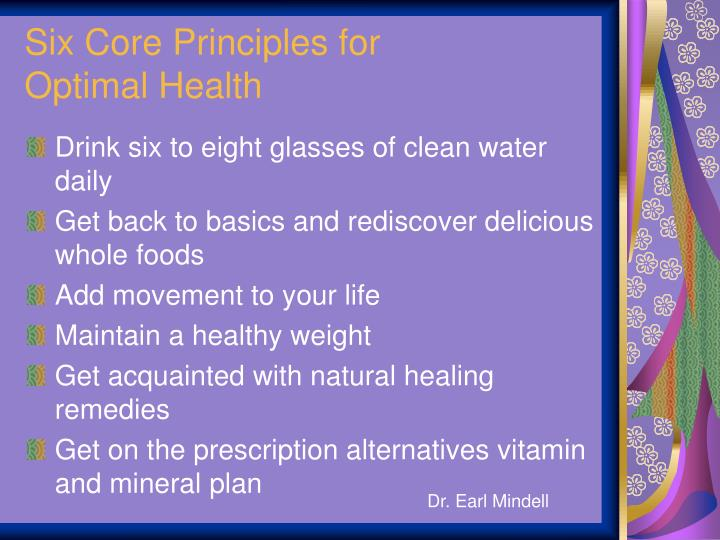 Six Core Principles for