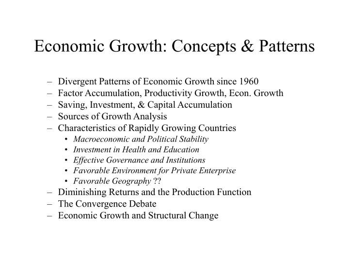 Economic growth concepts patterns