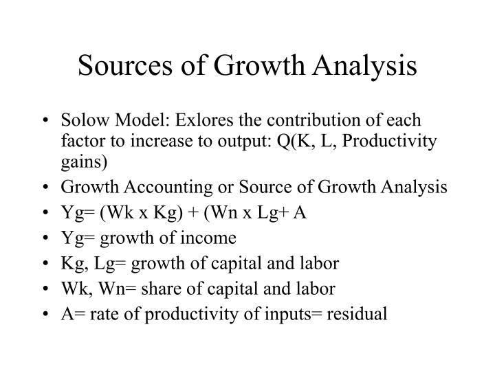 Sources of Growth Analysis
