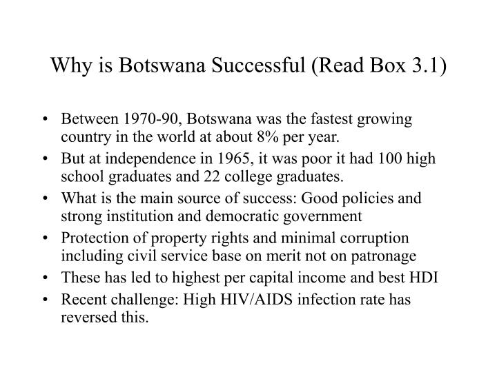 Why is Botswana Successful (Read Box 3.1)