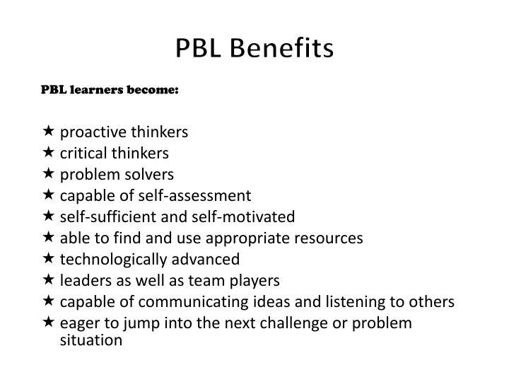 PBL Benefits