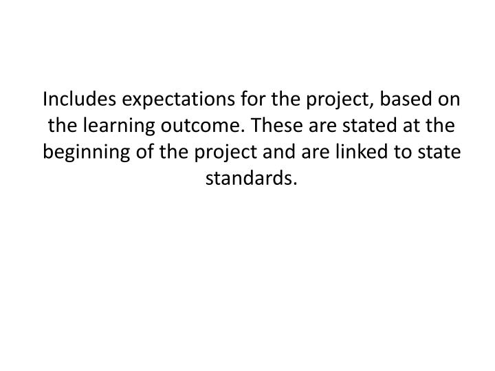 Includes expectations for the