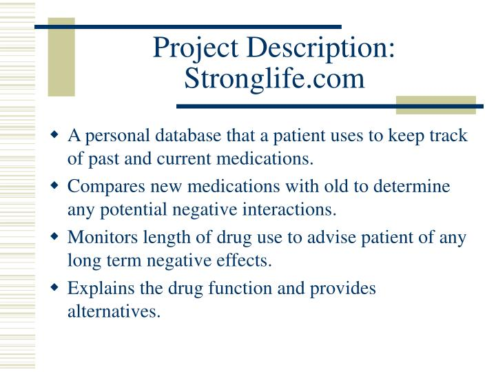 Project description stronglife com