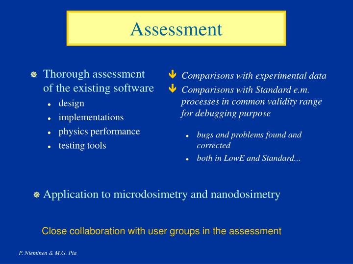 Thorough assessment of the existing software