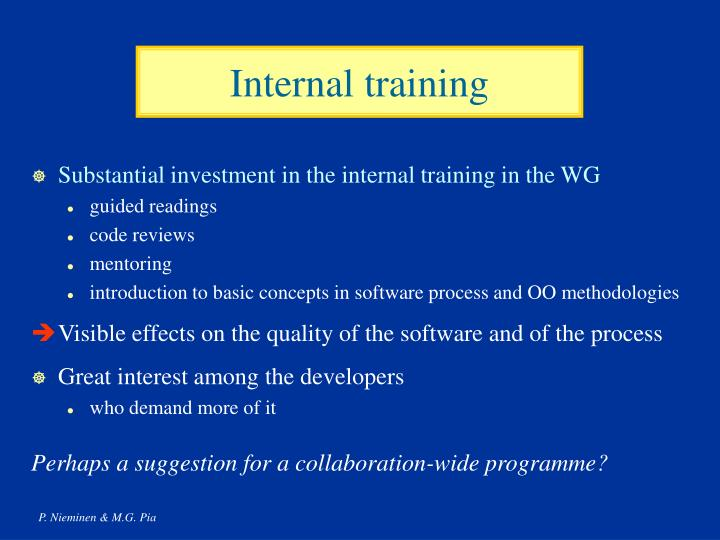Internal training
