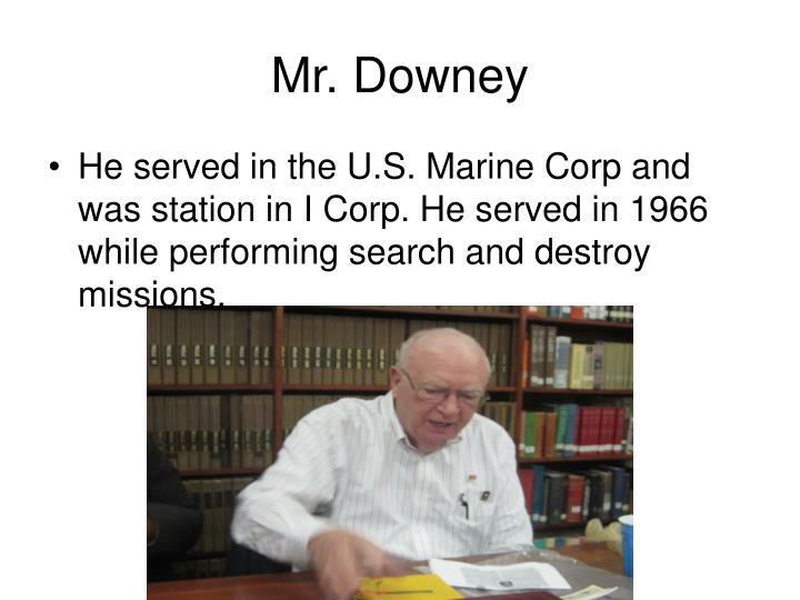 Mr. Downey