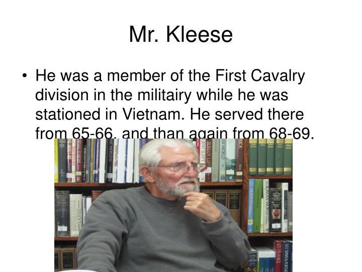 Mr. Kleese