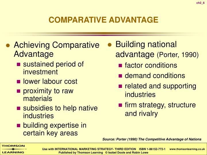 Achieving Comparative Advantage