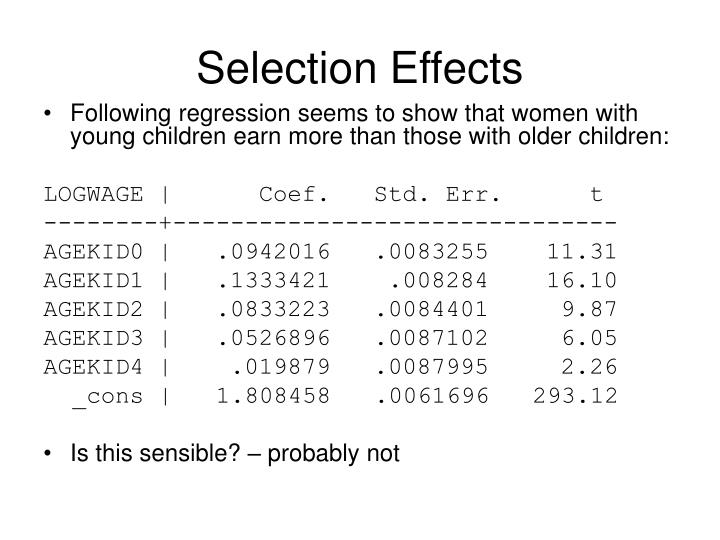 Selection Effects