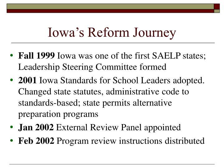 Iowa's Reform Journey