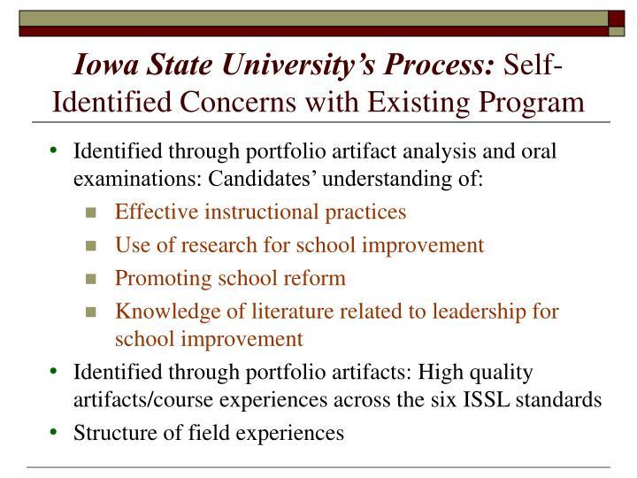 Iowa State University's Process: