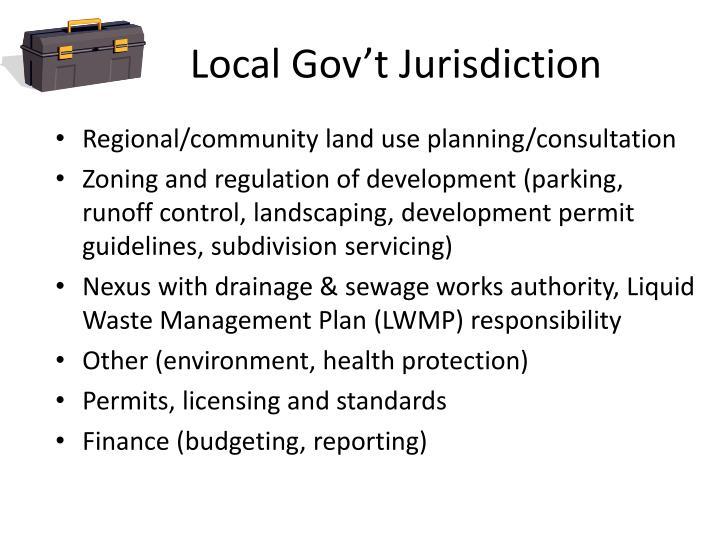 Local Gov't Jurisdiction