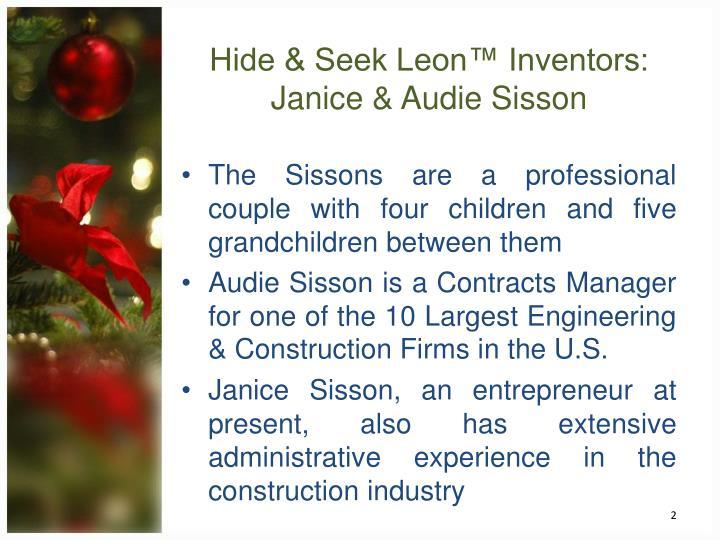 Hide & Seek Leon™ Inventors: