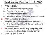 wednesday december 16 2009