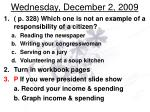 wednesday december 2 2009