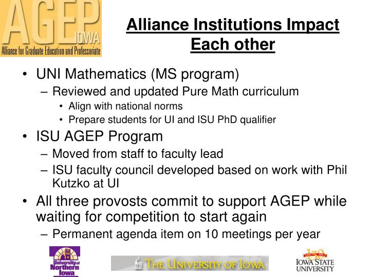 Alliance Institutions Impact