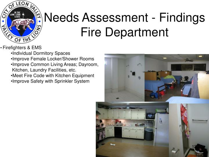Needs Assessment - Findings