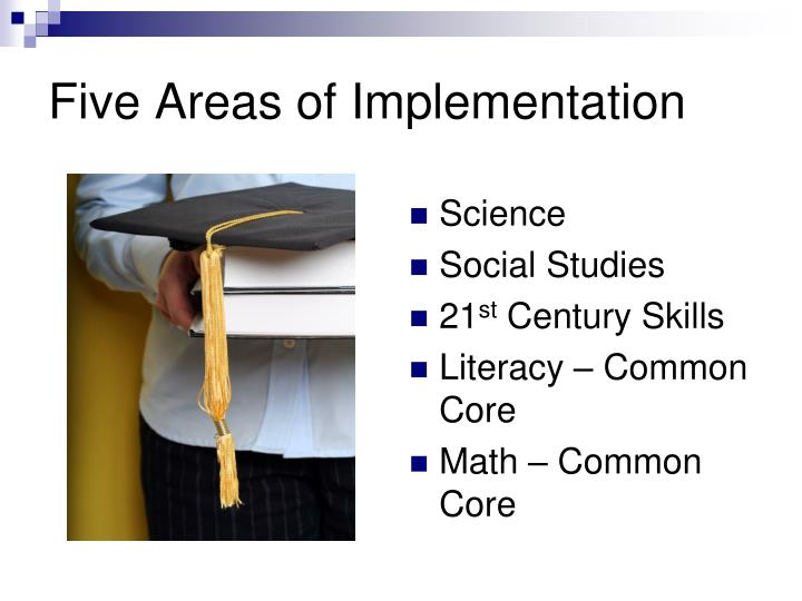 Five Areas of Implementation