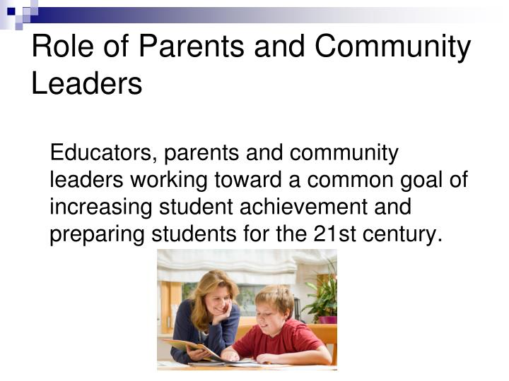 Role of Parents and Community Leaders
