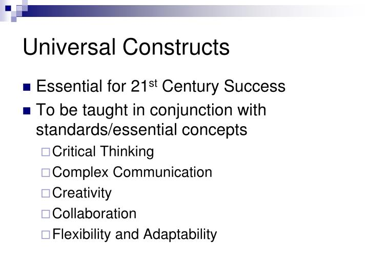 Universal Constructs