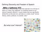 defining obscenity and freedom of speech3