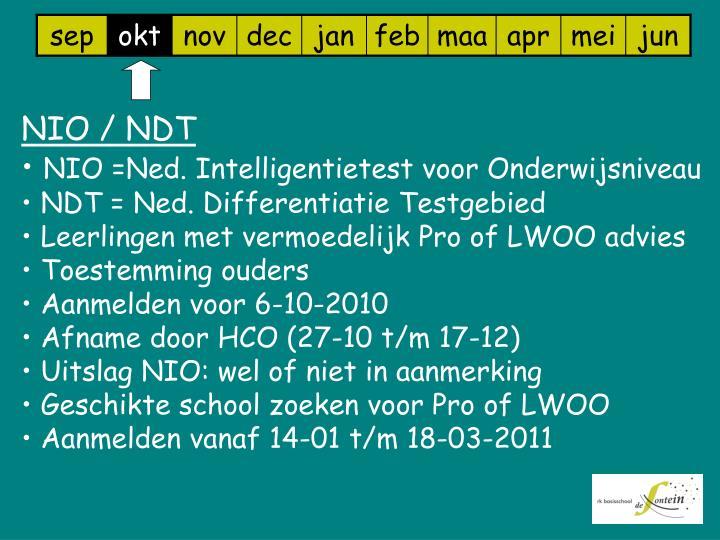 NIO / NDT