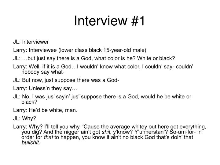 Interview #1