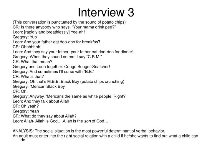 Interview 3
