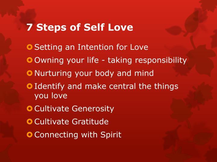 7 Steps of Self Love