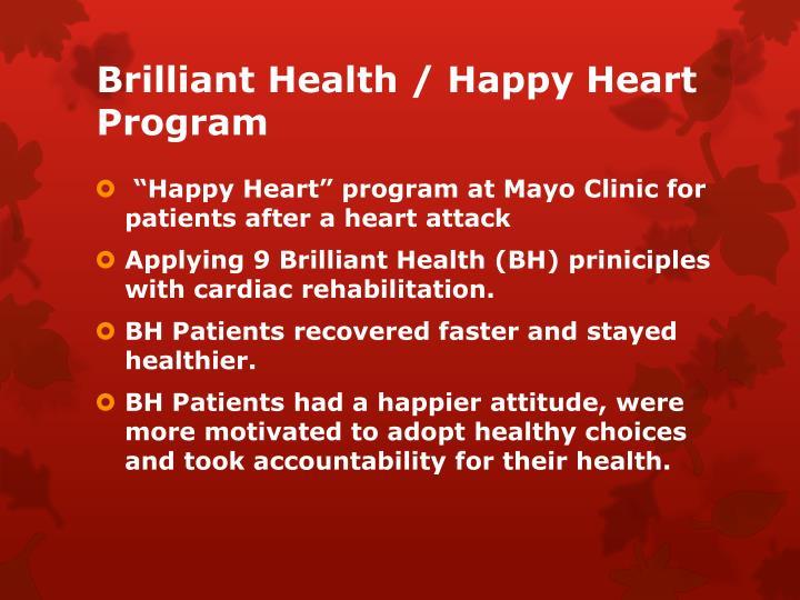 Brilliant Health / Happy Heart Program