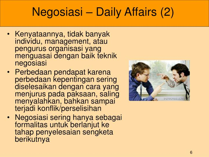 Negosiasi – Daily Affairs (2)