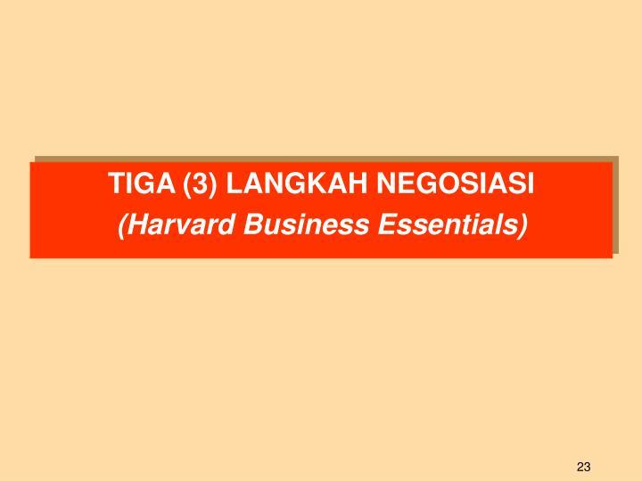 TIGA (3) LANGKAH NEGOSIASI