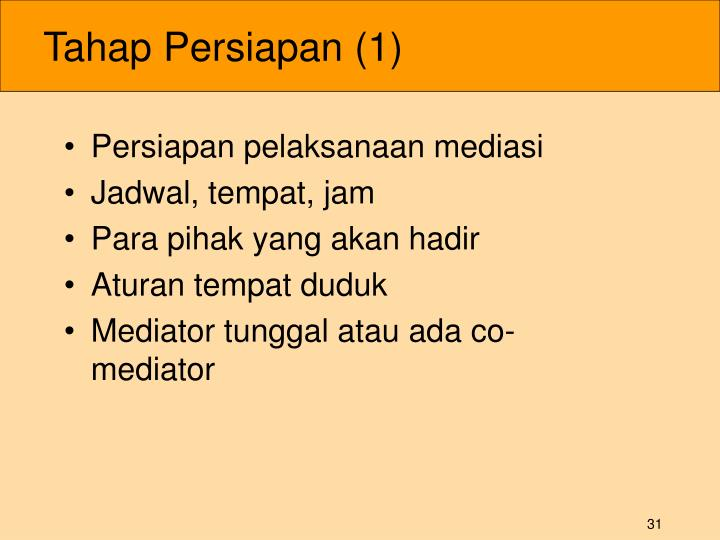 Tahap Persiapan (1)