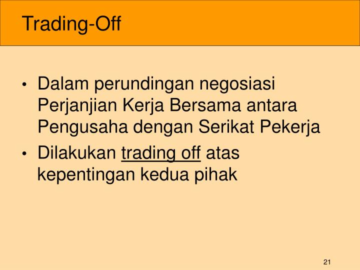 Trading-Off