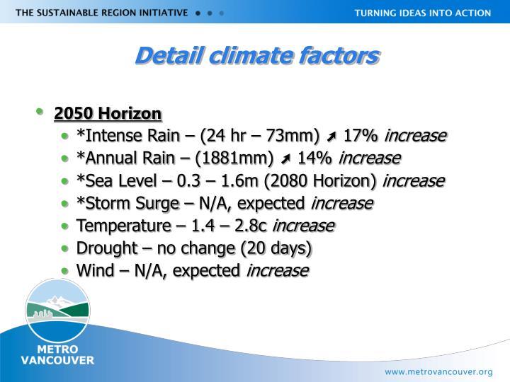 Detail climate factors