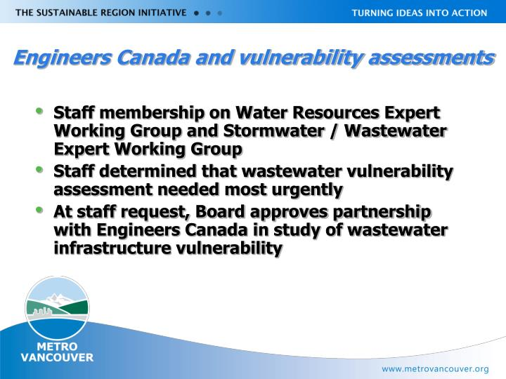 Engineers Canada and vulnerability assessments