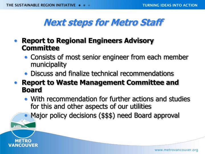 Next steps for Metro Staff