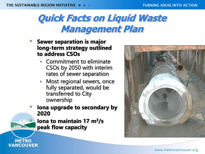 Quick Facts on Liquid Waste Management Plan