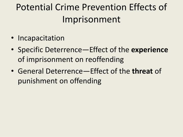 Potential Crime Prevention Effects of Imprisonment