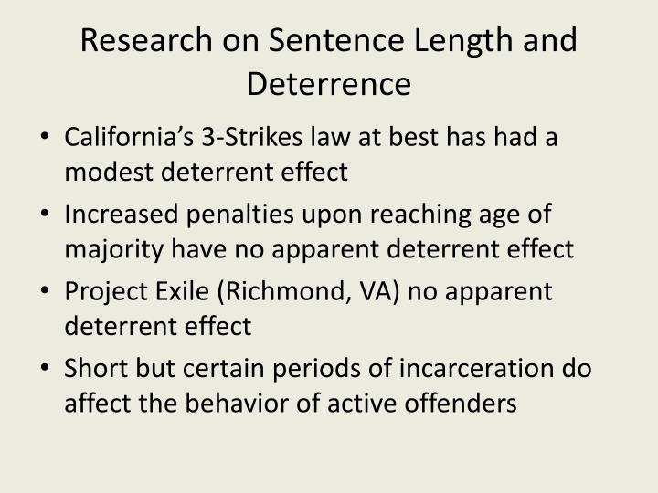 Research on Sentence Length and Deterrence