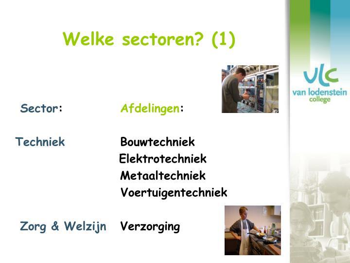 Welke sectoren? (1)