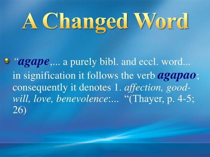 A Changed Word