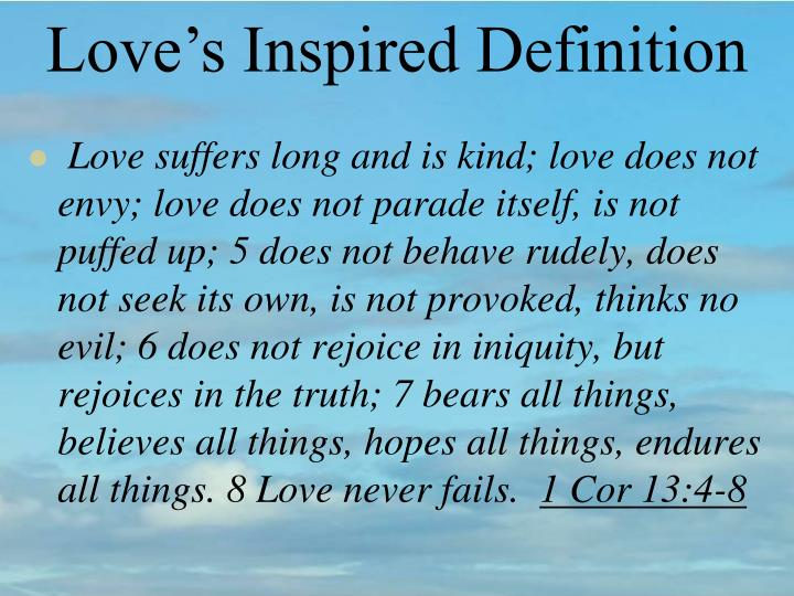 Love's Inspired Definition