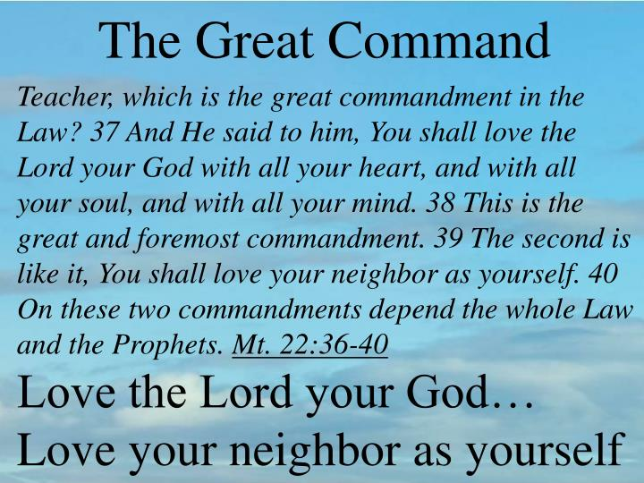 The Great Command