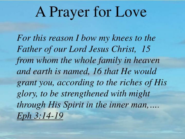 A Prayer for Love