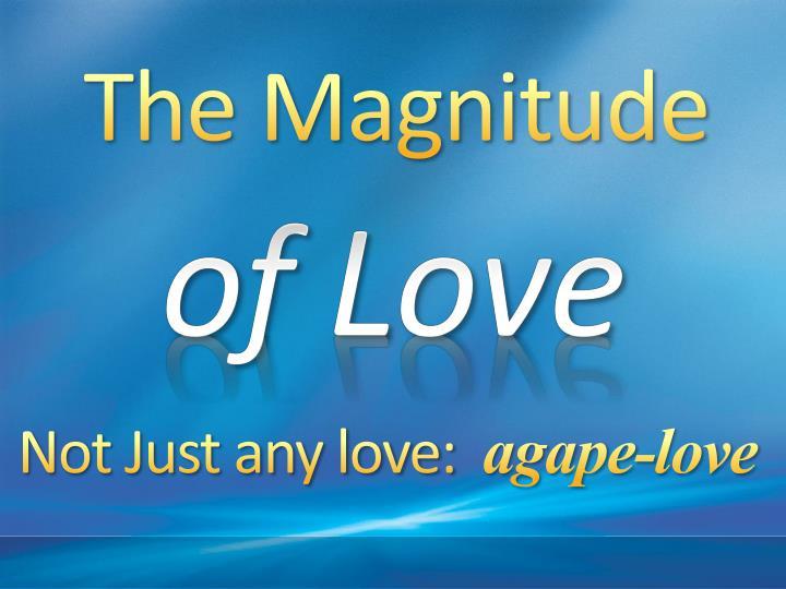 The Magnitude