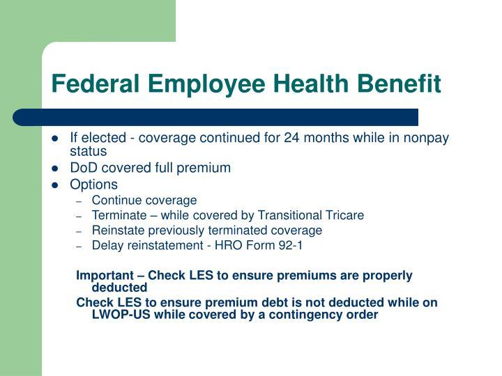 Federal Employee Health Benefit